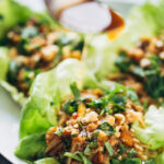 Peanut Chicken Lettuce Wraps With Ginger Garlic Sauce …