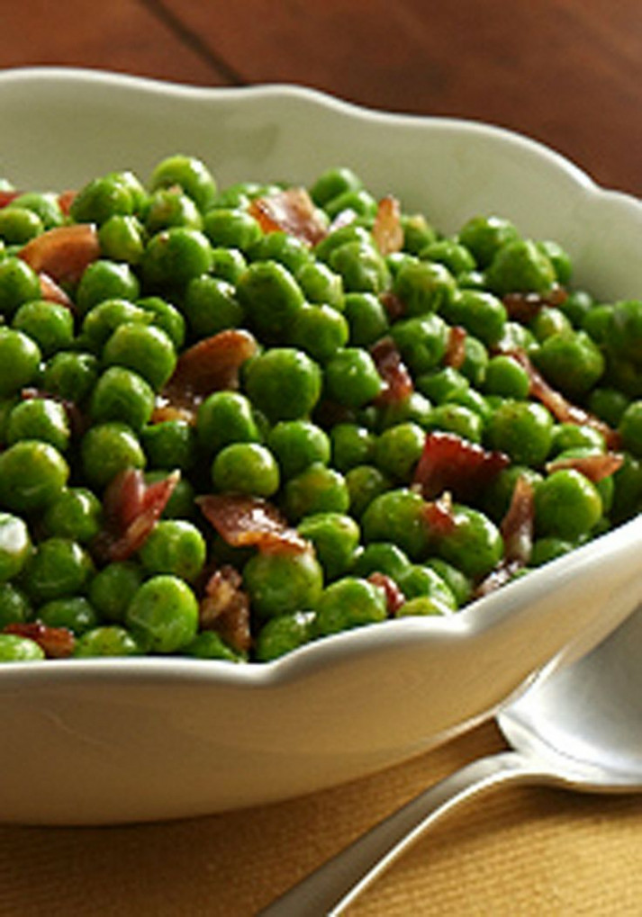 Peas with Bacon | Recipe | Holiday Recipes | Christmas ...