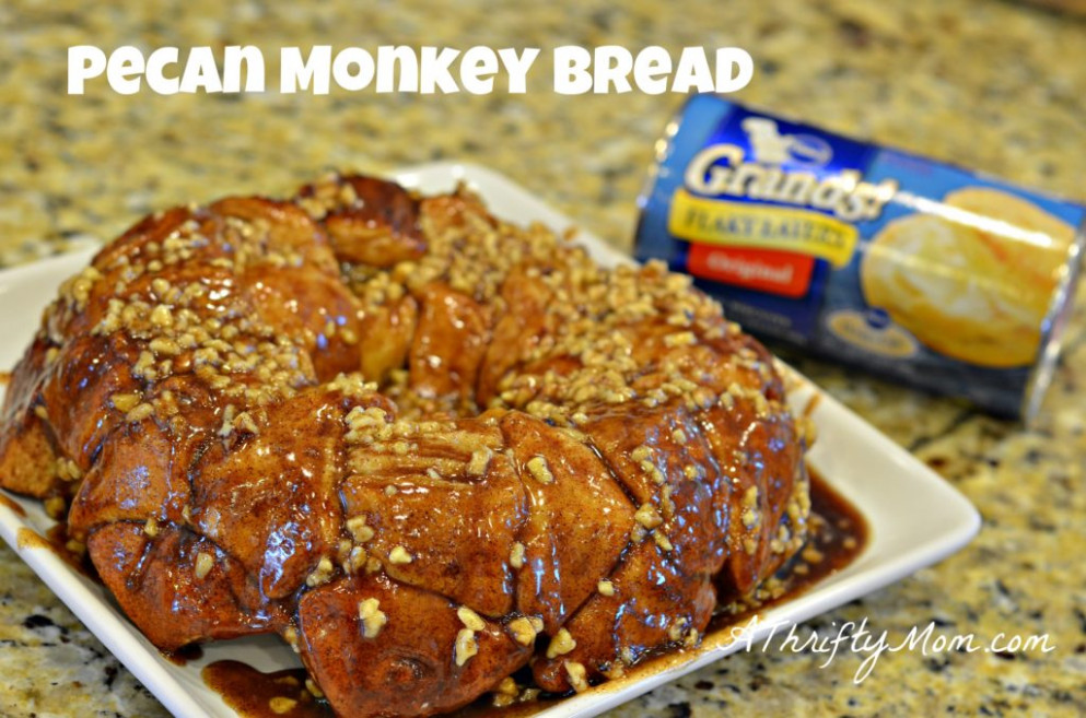 Pecan Monkey Bread Recipe ~ Made with Pillsbury Grands - A ...