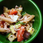 Penne With Grilled Eggplant And Zucchini