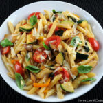 Penne With Mixed Vegetables, Parmesan Cheese, And Pine …