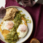 Pepper Jack Frico Eggs with Salsa Verde & Bean Dip 'n ...