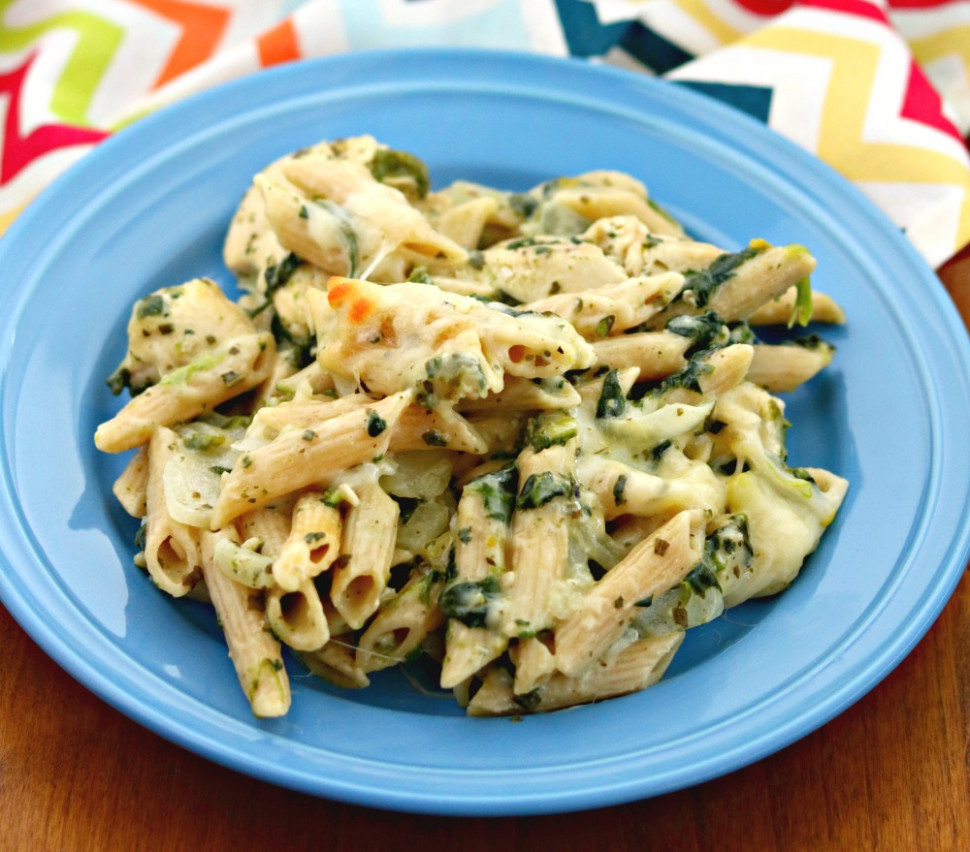PESTO CHICKEN PASTA BAKE