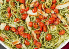 Pesto Spaghetti with Roasted Tomatoes and Grilled Chicken ...