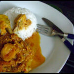 Photo Of Chicken Curry With Yoghurt And Desiccated Coconut