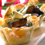 Phyllo Pastry Cups With A Brie And Mushroom Filling …