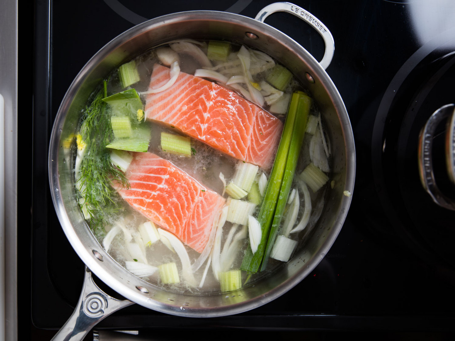 Poached Salmon Recipe — Dishmaps