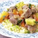 Pork casserole with apple couscous | RecipesPlus