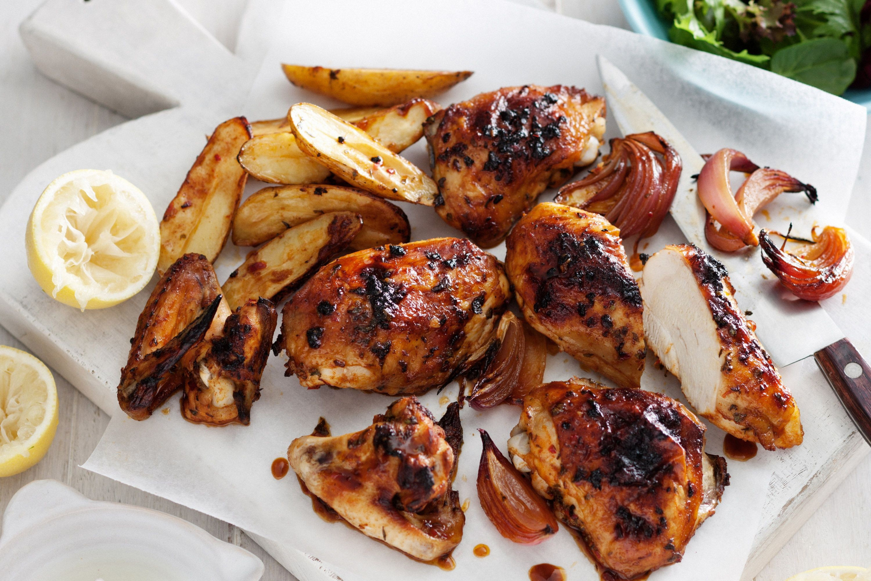 Portuguese-style roast chicken pieces
