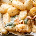 Potato Gnocchi In Bacon Spinach Cream Sauce — Eatwell101