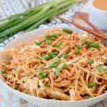 Pressure Cooker Chicken Noodles With Thai Peanut Sauce