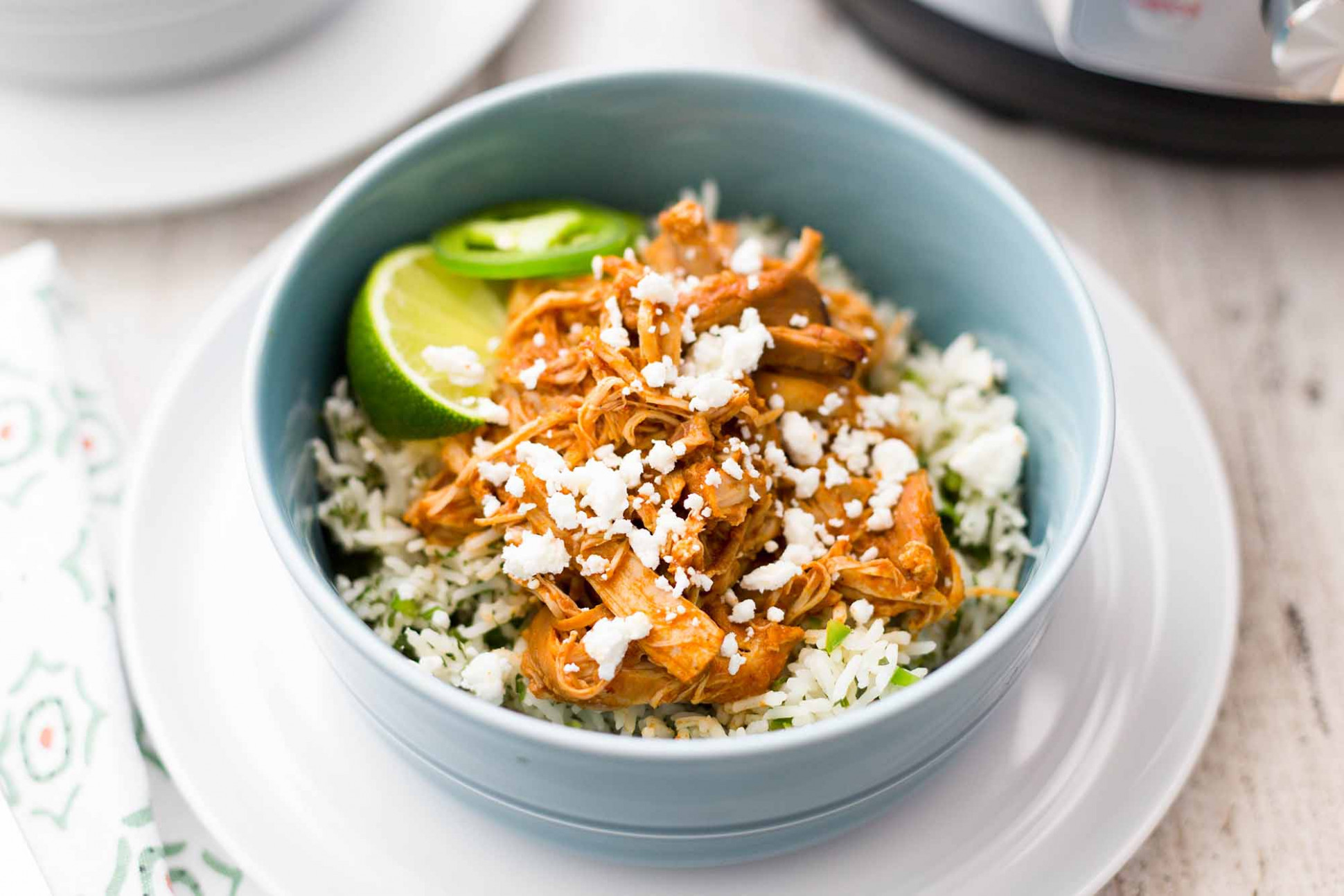 Pressure Cooker Chipotle Chicken and Rice Bowls Recipe ...