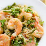 Pressure Cooker Lemon Butter Shrimp & Orzo Dinner …