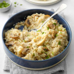 Pressure Cooker Risotto With Chicken And Mushrooms