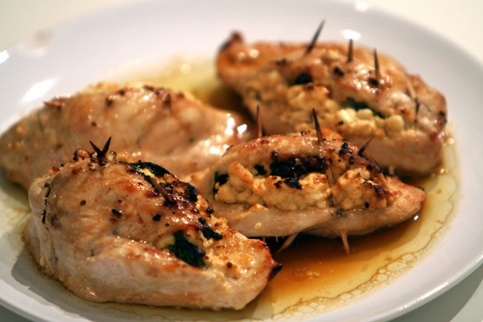 Project 365: February 4 (Stuffed chicken breast recipe)