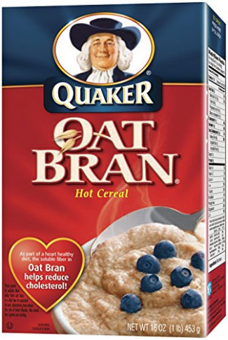 Quaker Oat Bran Hot Cereal, with Fiber and Protein, 16 oz ...