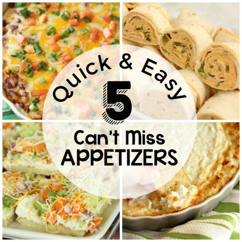 Quick and Easy Appetizers - Diary of A Recipe Collector