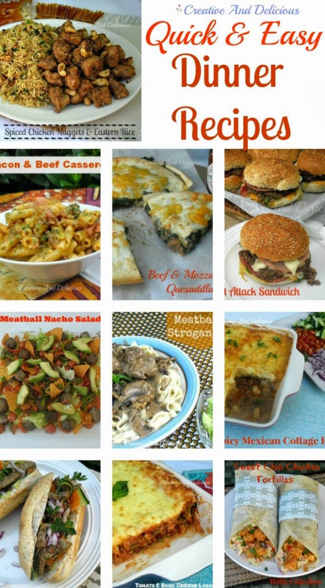 Quick And Easy Dinner Recipes   Beautiful, Creative and To ...