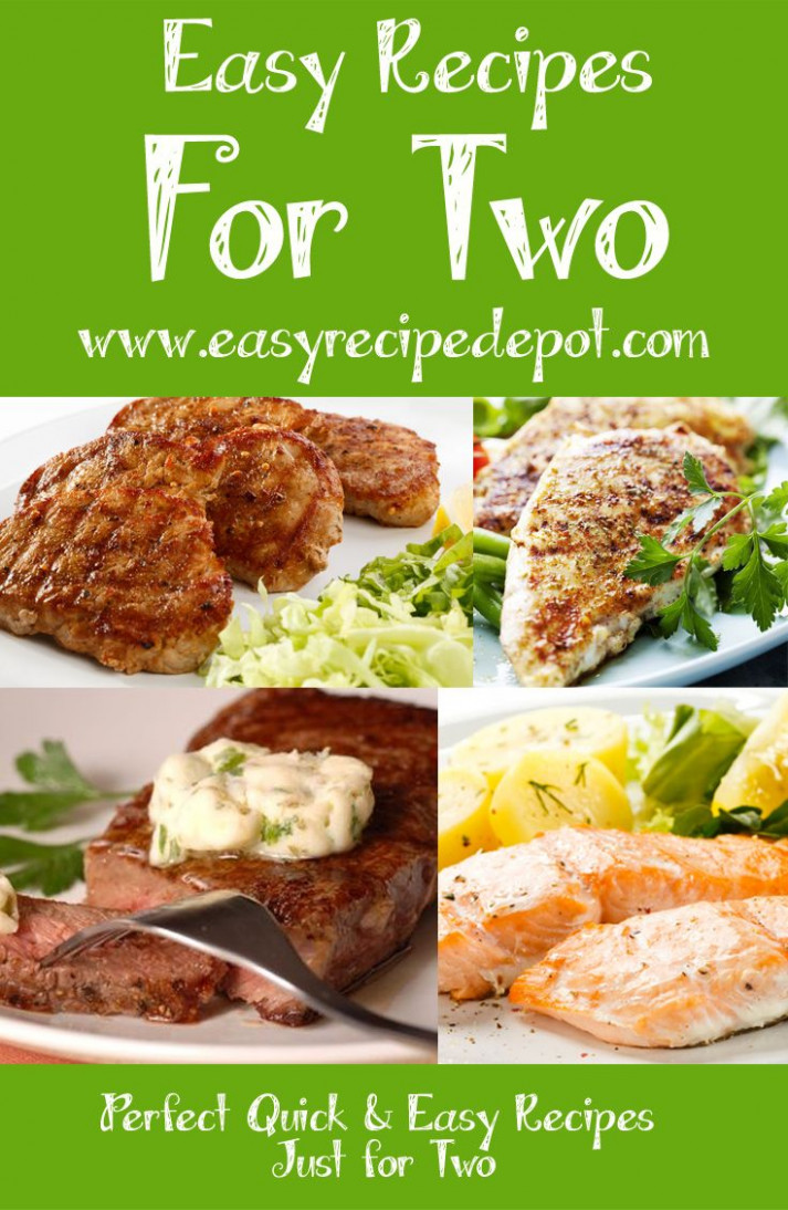 Quick and easy recipes for two. | Meals for 2 in 2019 ...