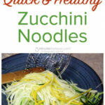 Quick And Healthy Zucchini Noodles – Zoodles | Recipe …