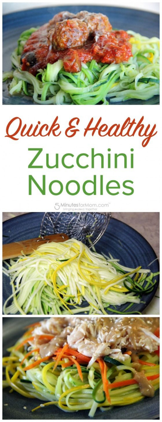 Quick and Healthy Zucchini Noodles - Zoodles | Recipe ...