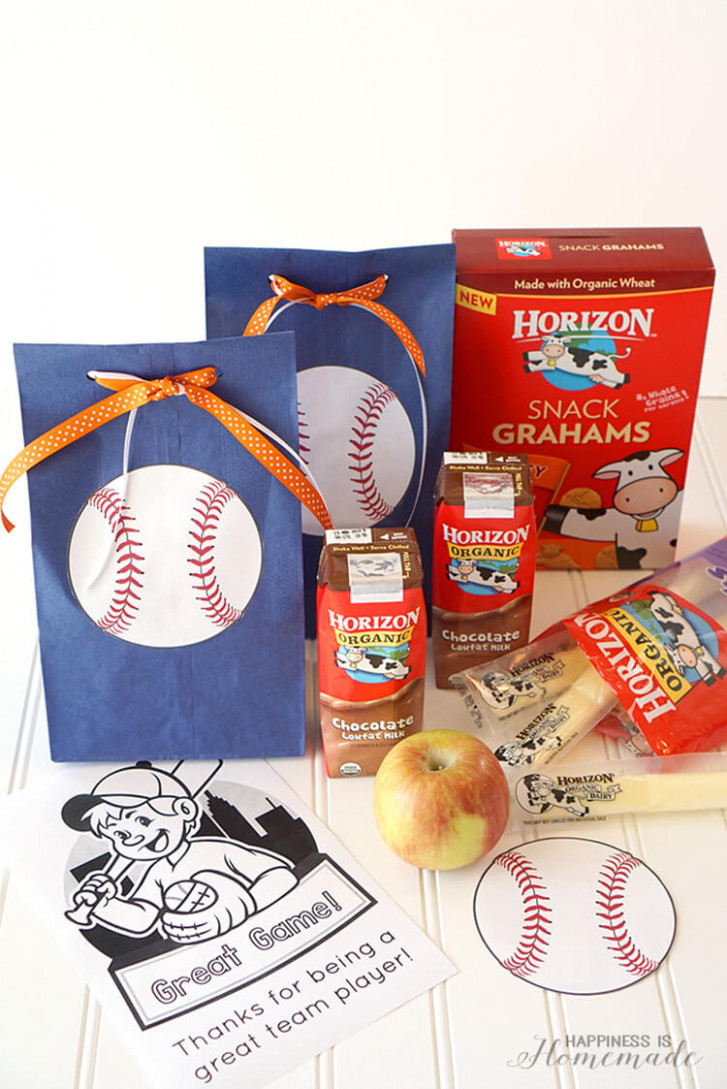 Quick & Easy Baseball Team Snack Idea - Happiness is Homemade