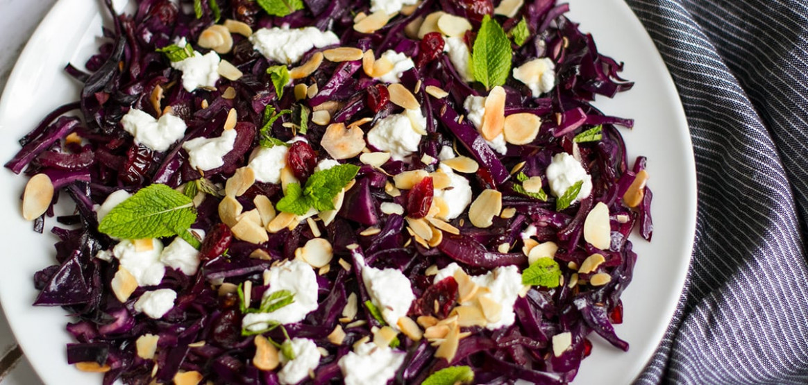 Quick Red Cabbage Recipe with Cranberries & Goat's Cheese