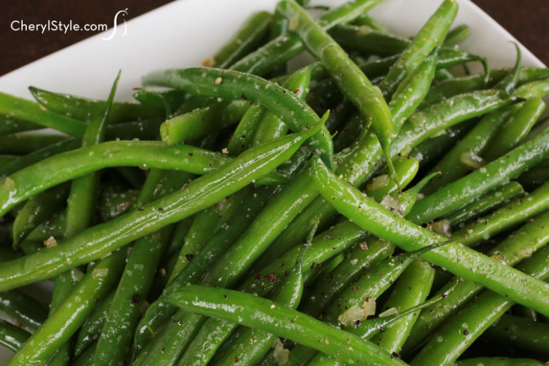 Quick sautéed green beans with shallots recipe