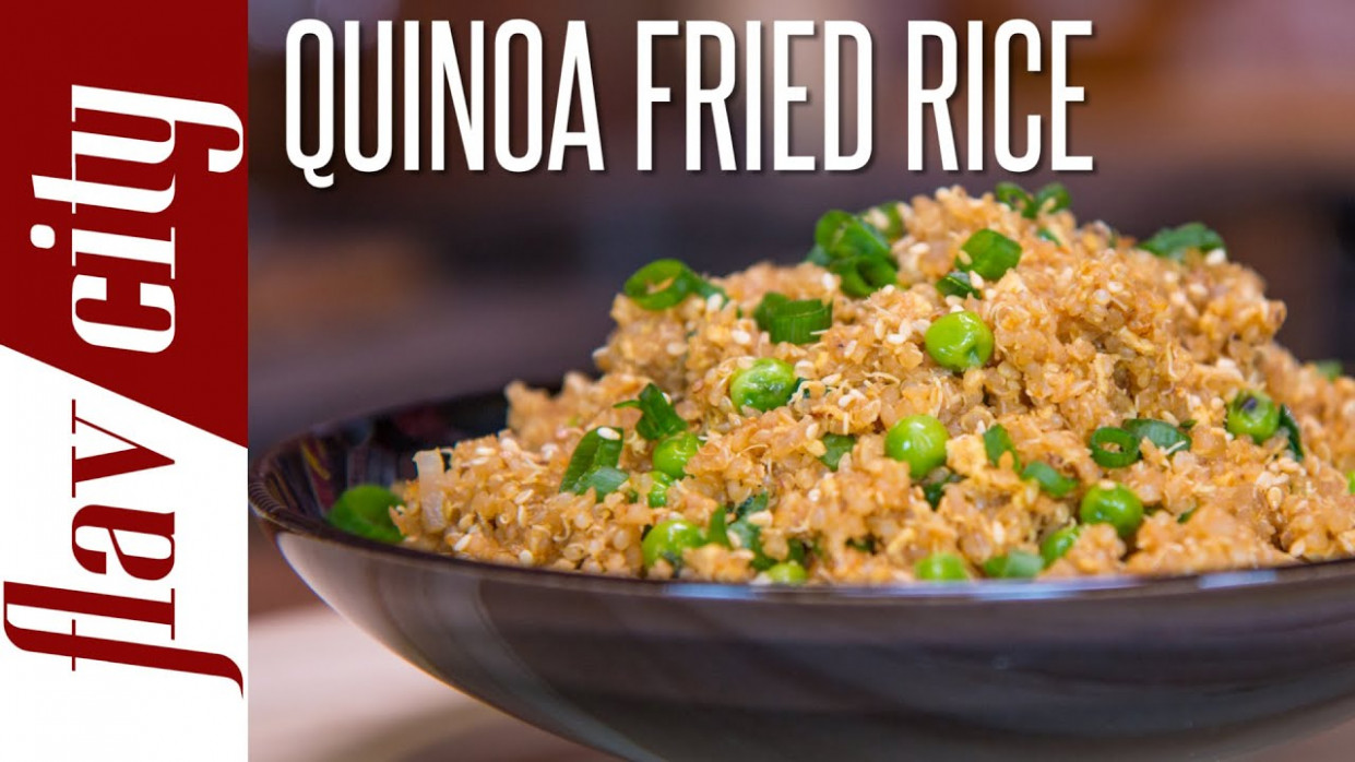 Quinoa Fried Rice - Easy Quinoa Recipe - FlavCity with ...