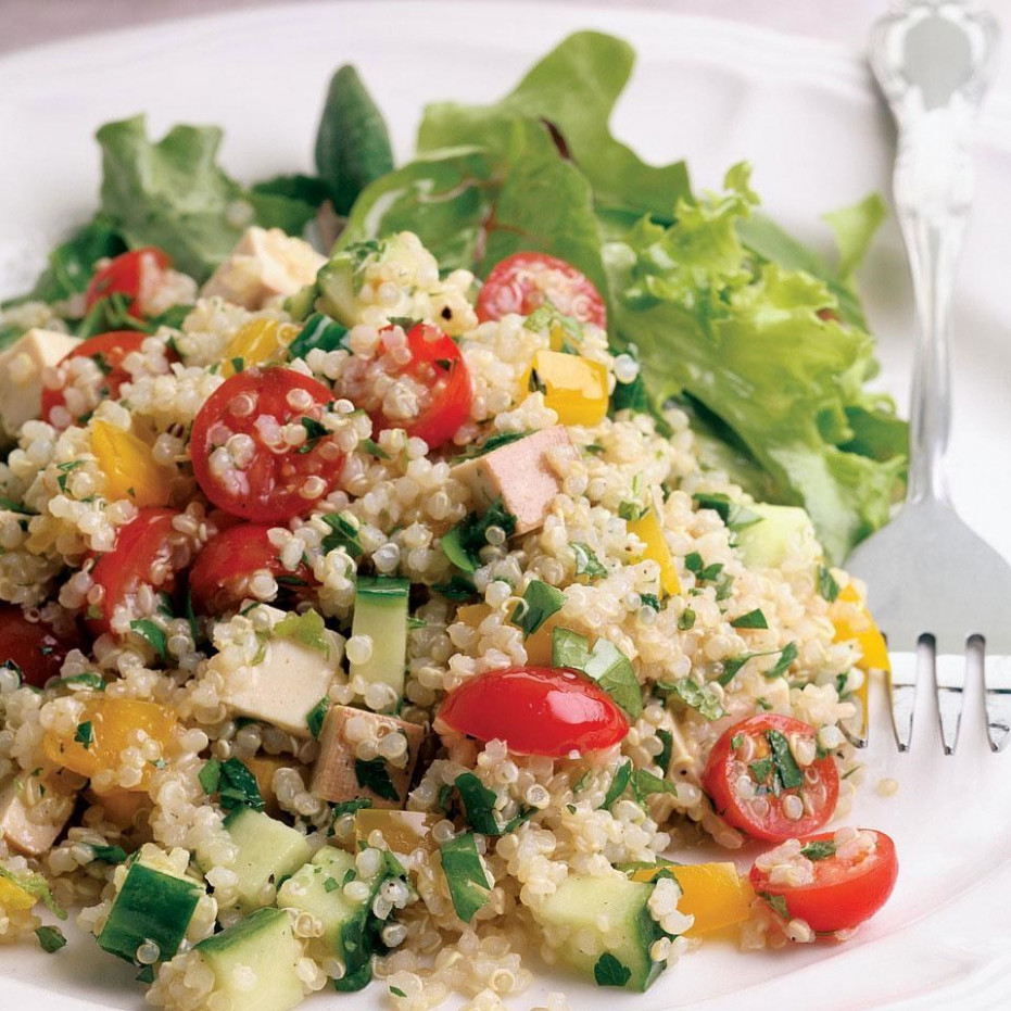 Quinoa & Smoked Tofu Salad Recipe - EatingWell