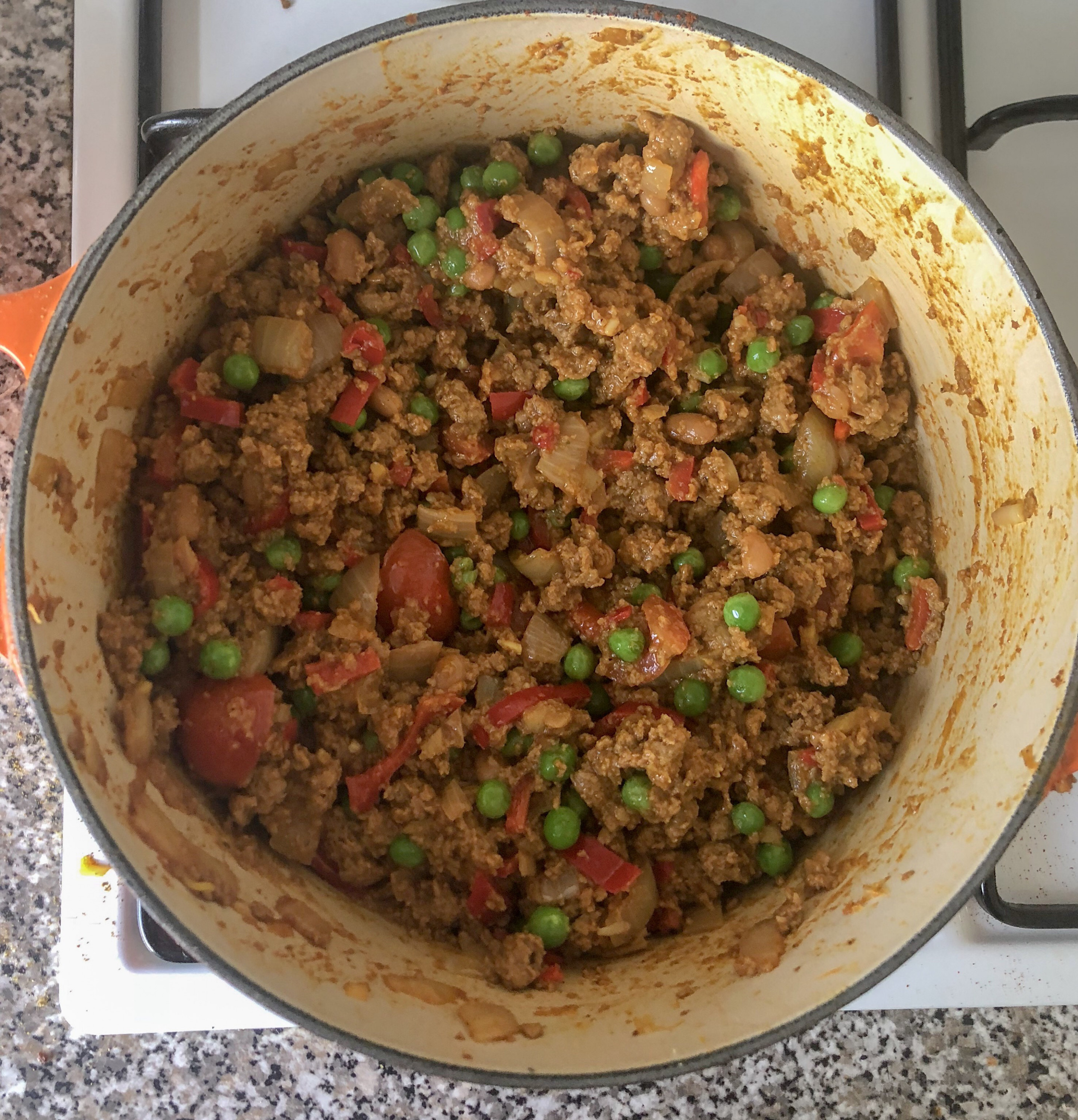 Quorn Keema – Curried Mince With Peas – Goosey Kitchen