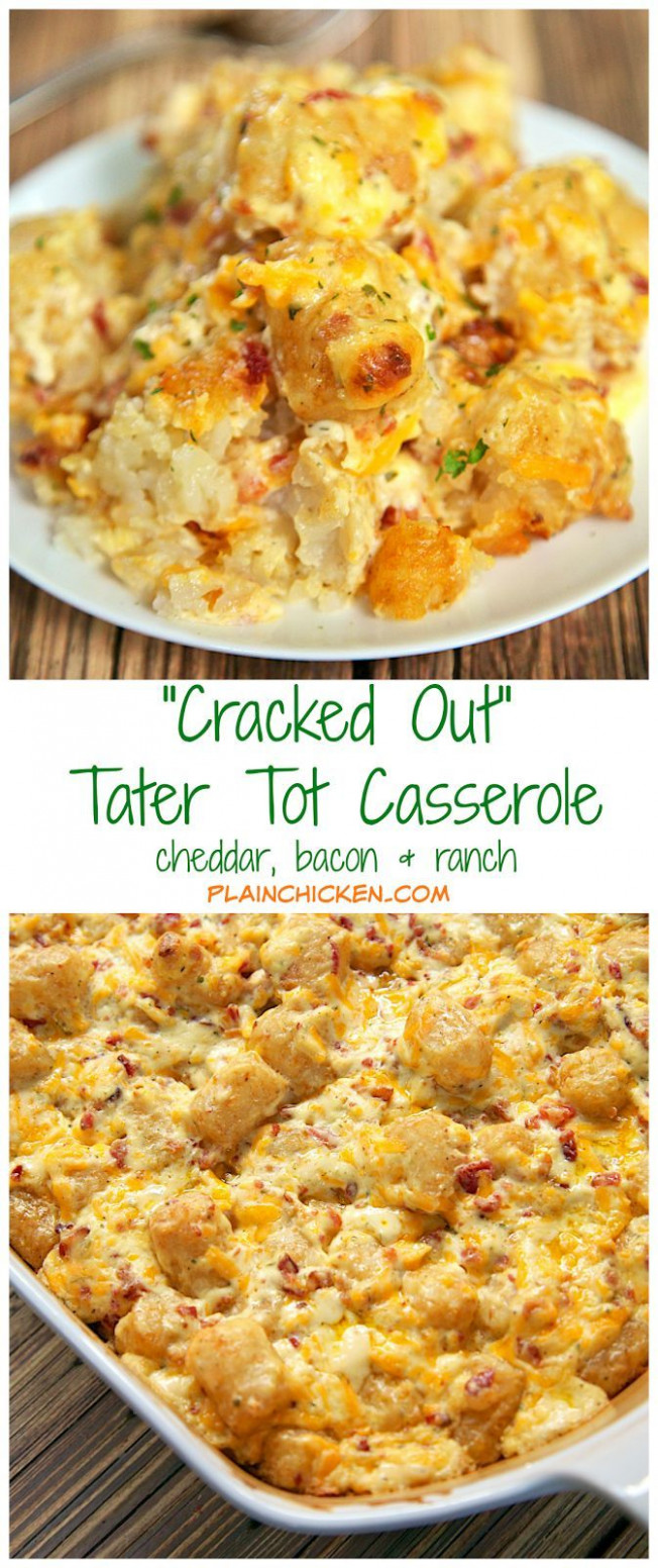 """Cracked Out"" Tater Tot Casserole 