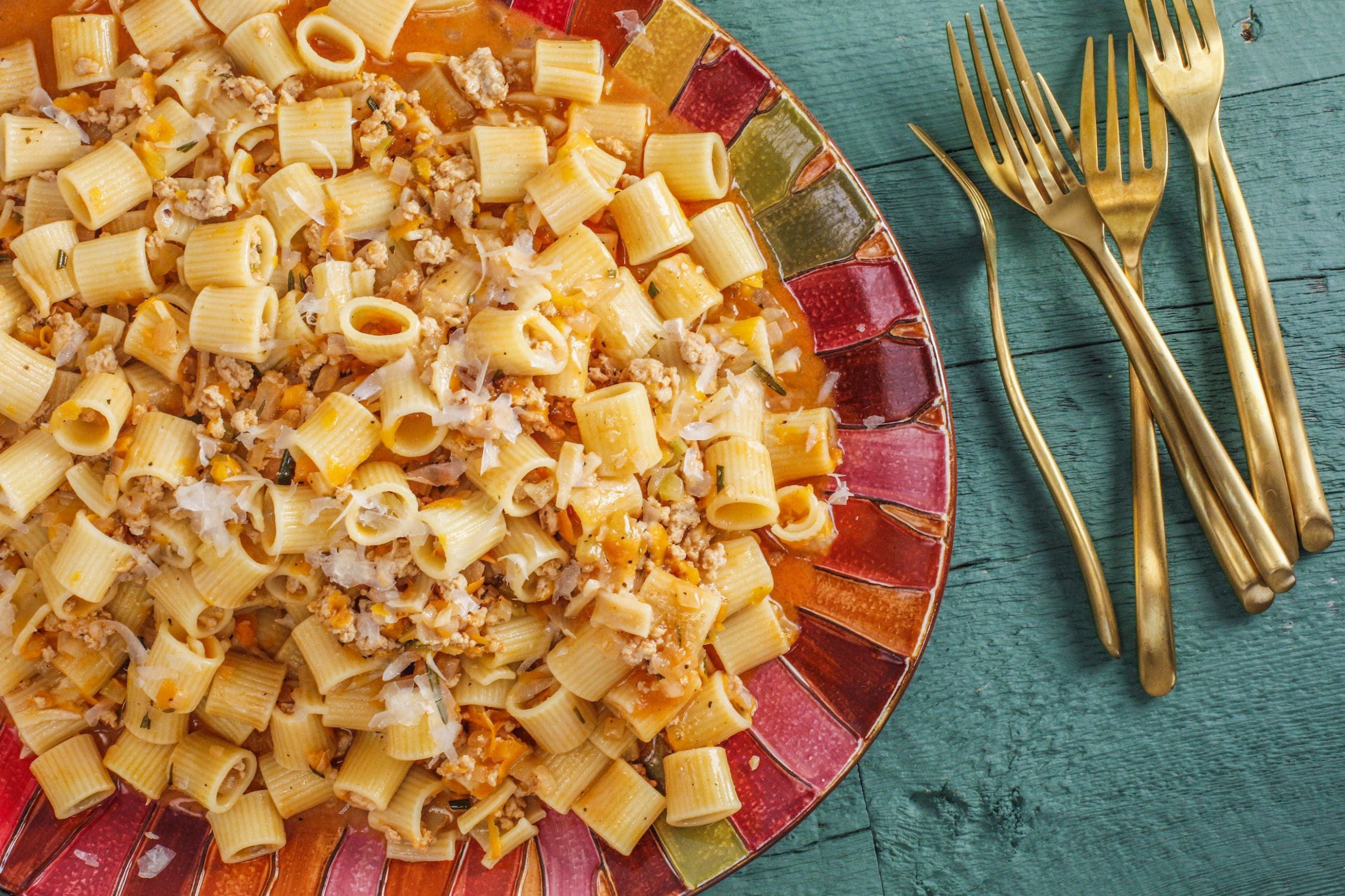 Rachael's Chicken And Vegetable Ragu With Rigatoni In 11 …