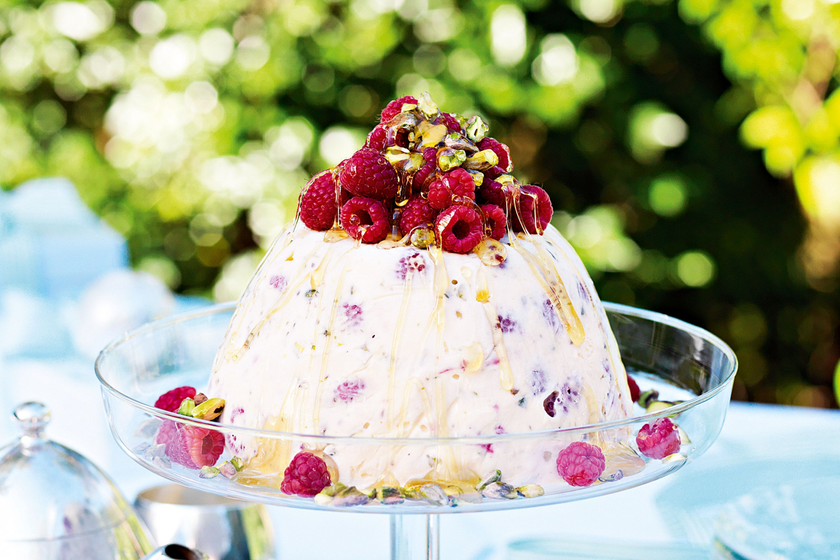 Raspberry & pistachio ice-cream pudding | Recipe | Summer ...