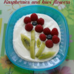 Raspberry And Kiwi Flowers – Easy Dessert – Tip Junkie