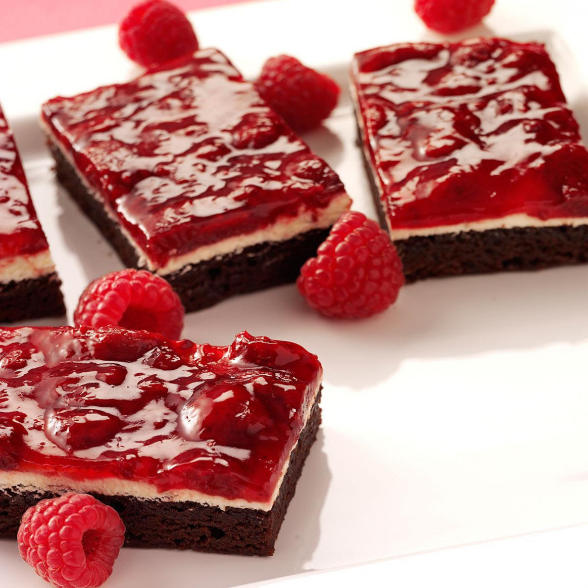 Raspberry Brownie Dessert Recipe | Taste of Home