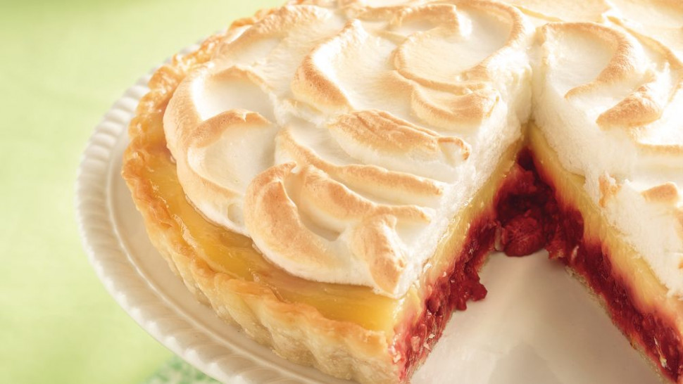 Raspberry-Lemon Meringue Tart recipe from Pillsbury.com