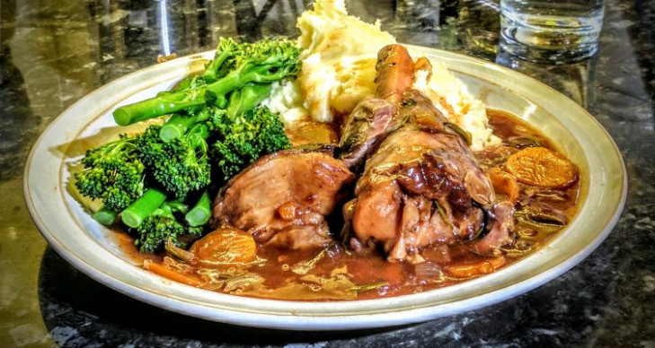 Really Easy Lamb Shanks cooked in a slow cooker