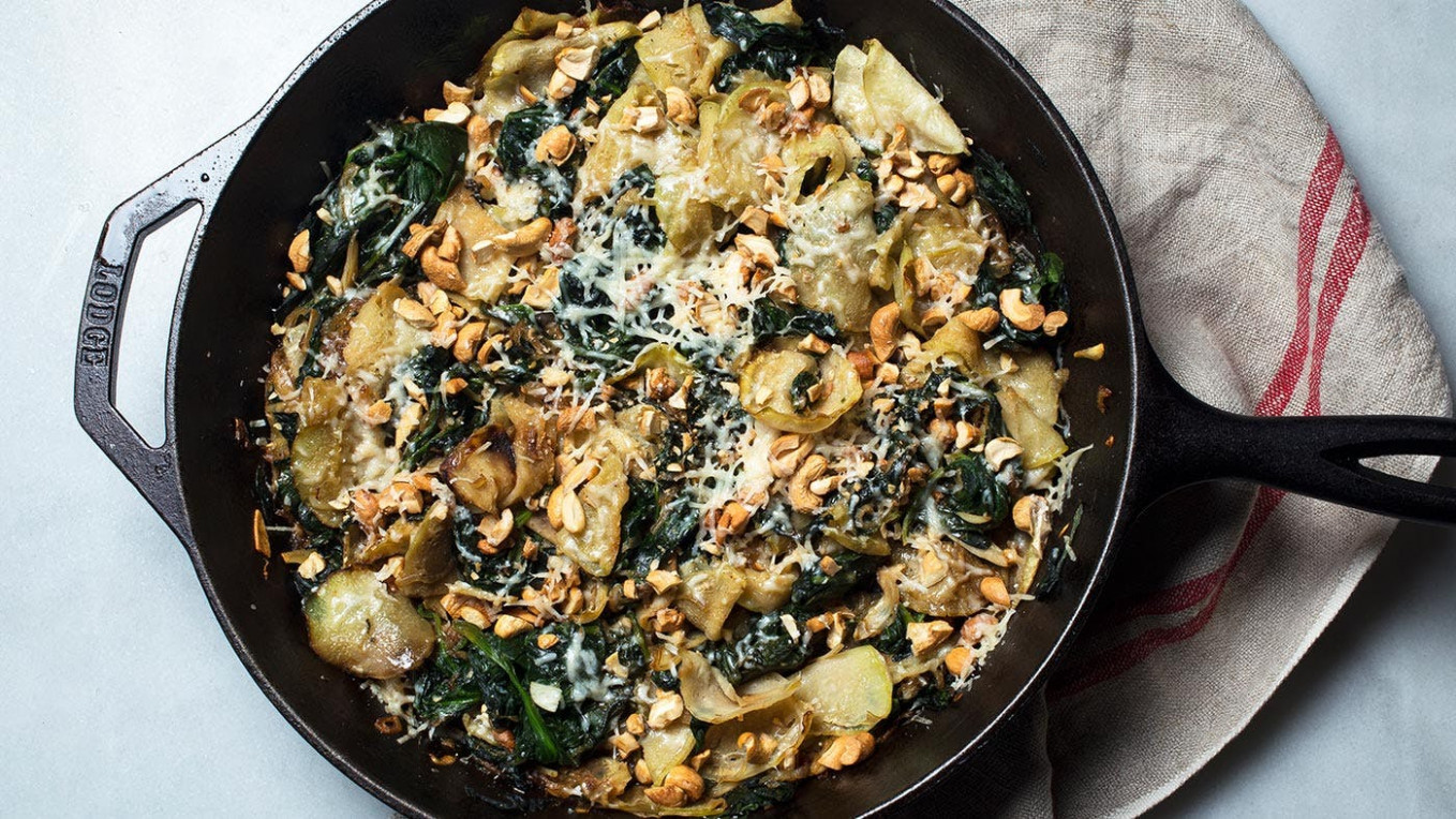 Recipe: Creamed Kohlrabi and Spinach