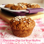 Recipe For Healthy Chocolate Chip Oat Bran Muffins