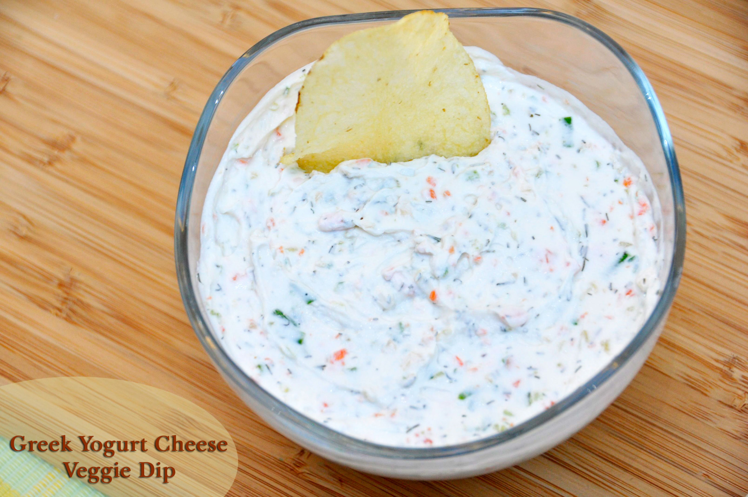 Recipe: Greek Yogurt Cheese Veggie Dip *Giveaway* - Rockin ...