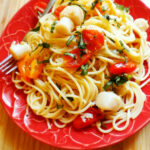 Recipe: Pasta With Scallops, Cherry Tomatoes, And Basil …