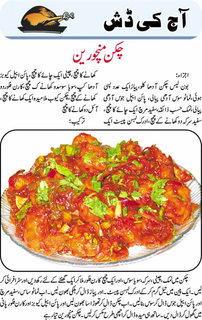 recipes: Chicken Manchurian Recipe in Urdu