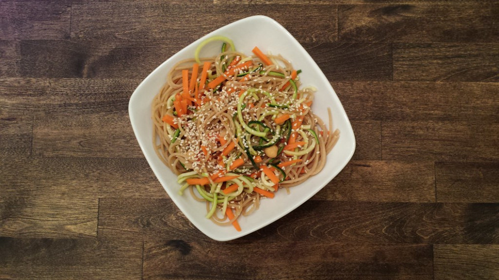Recipes From Sweet Peas And Saffron. Sooo Delicious!!https://sweetpeasandsaffron.com/cold Sesame Noodle Meal Prep Bowls Vegan/Note: Modifications Made. I Used A Bottled Peanut Sauce Vinaigrette, From Trader Joe's.