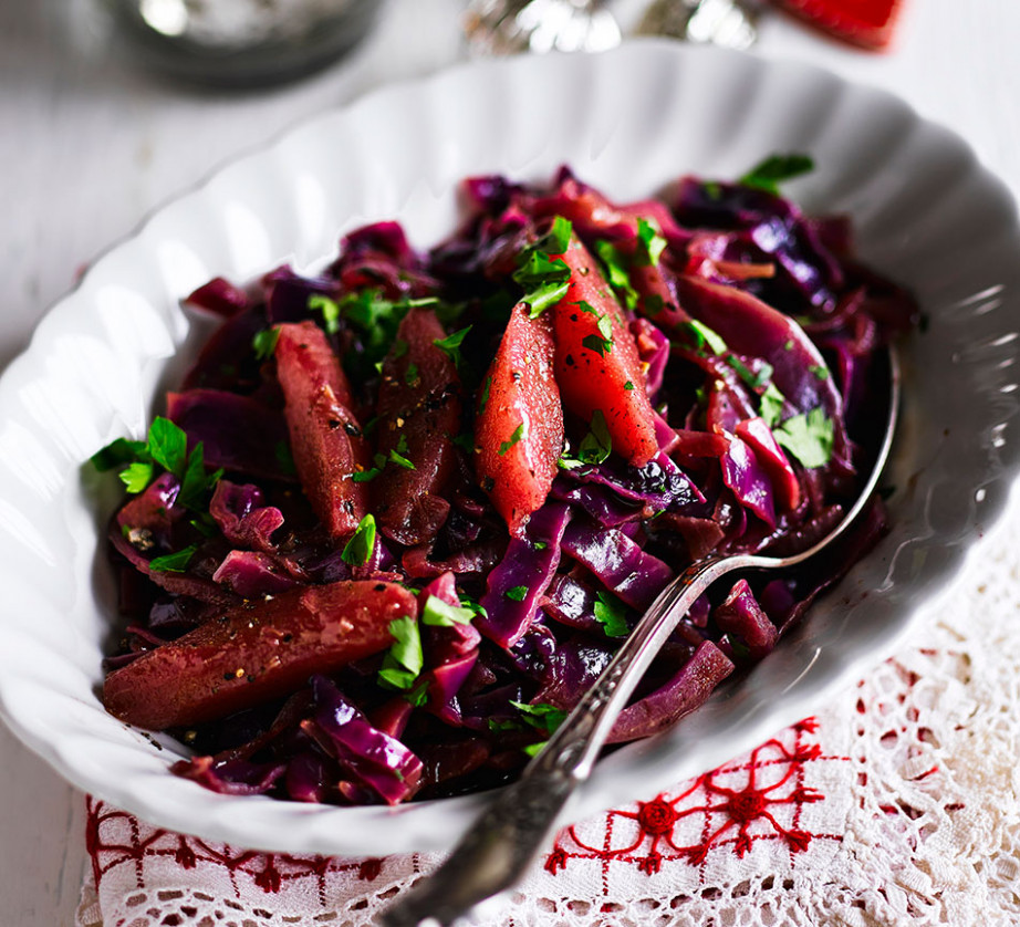 Red Cabbage With Juniper & Pears Recipe | BBC Good Food