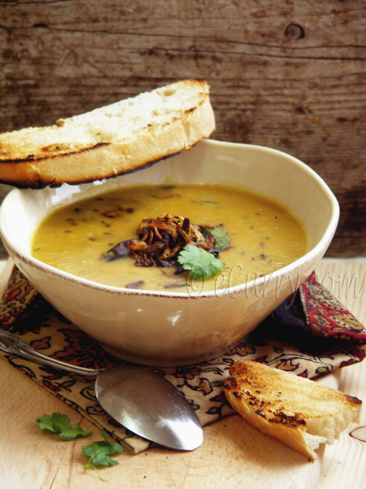Red Lentils with Cumin & Fried Onion