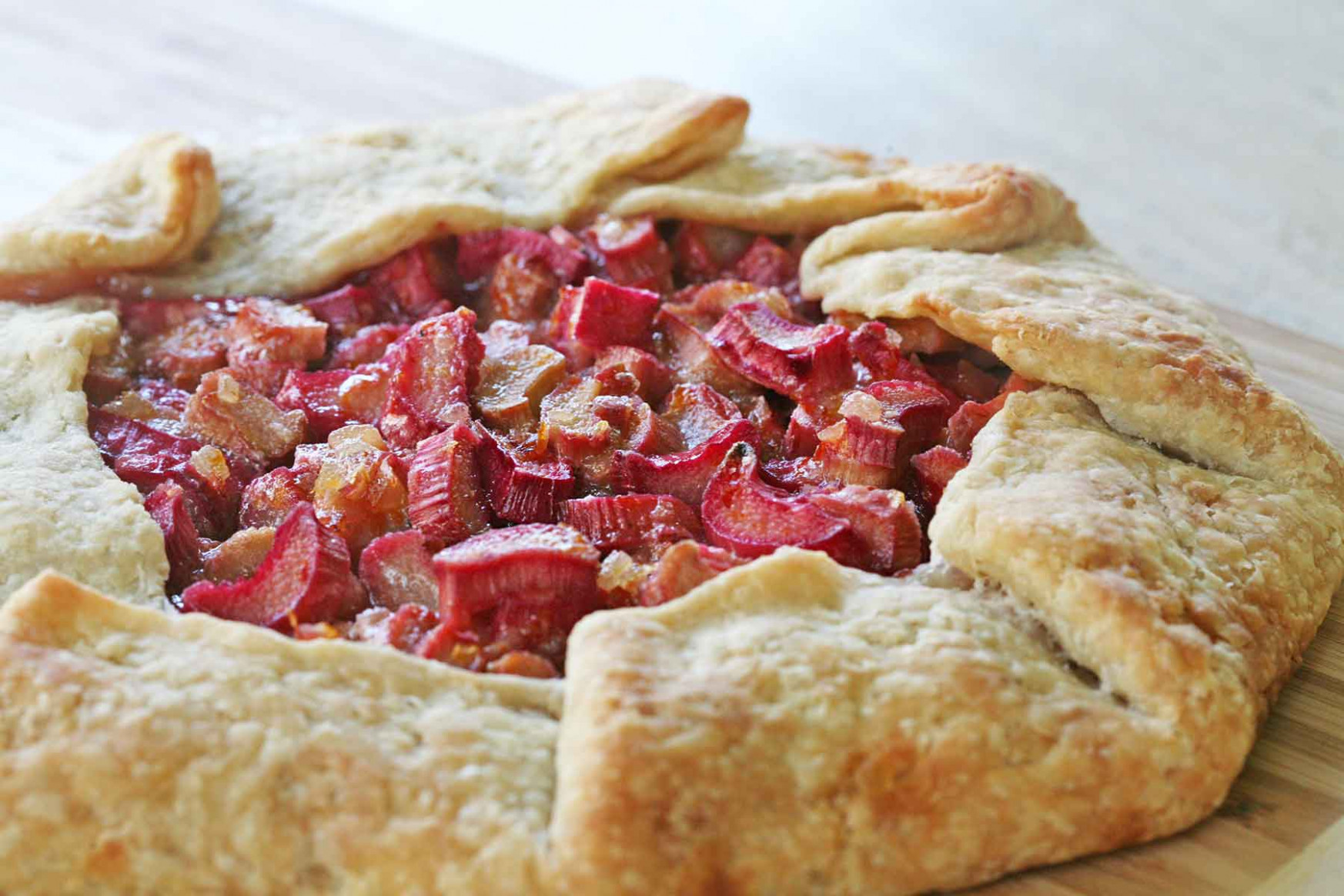 Rhubarb Ginger Galette Recipe | SimplyRecipes