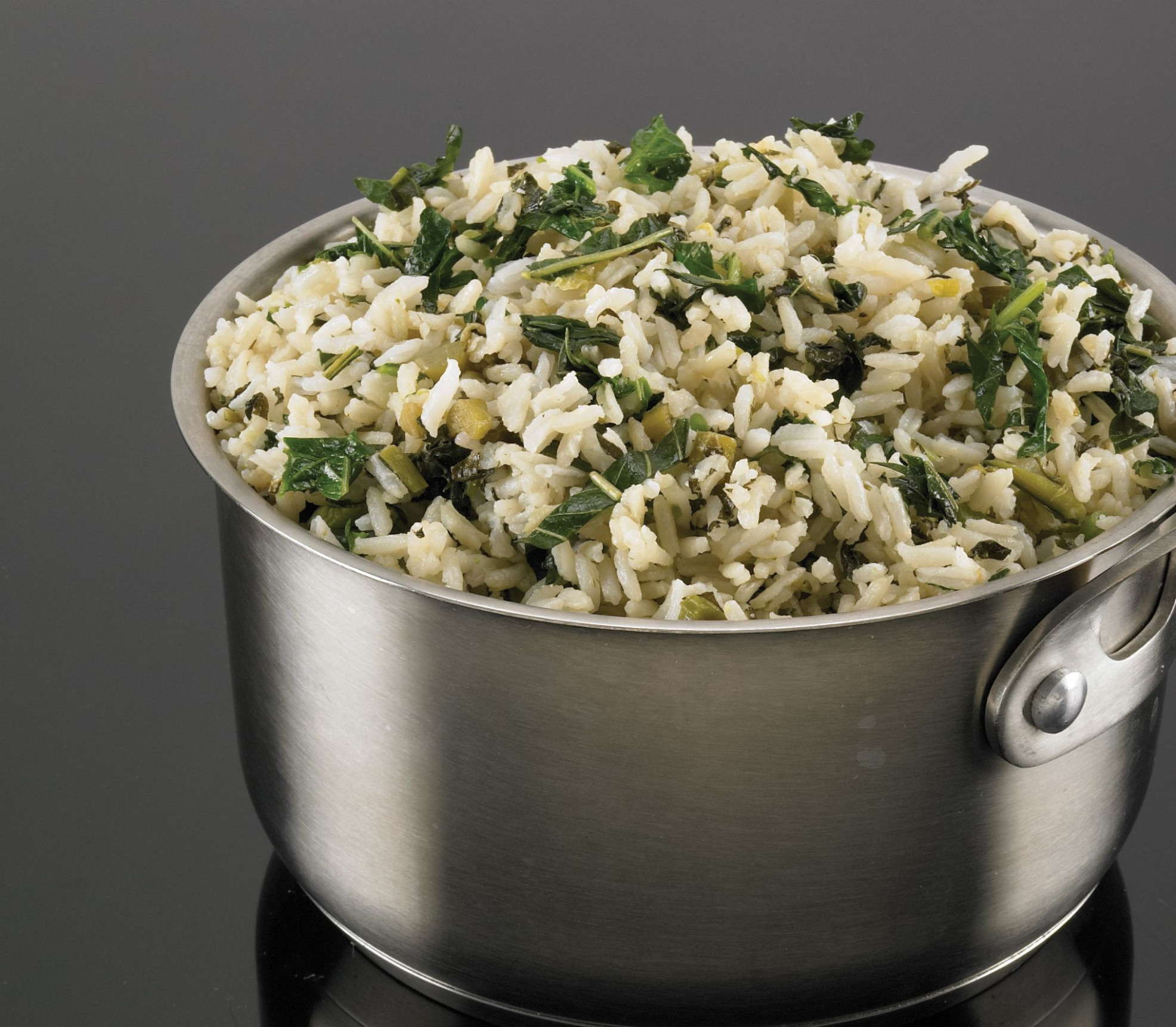 Rice Steamed With Callaloo And Seasoned Coconut Milk …