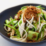 Roast Chicken Udon Noodle Salad