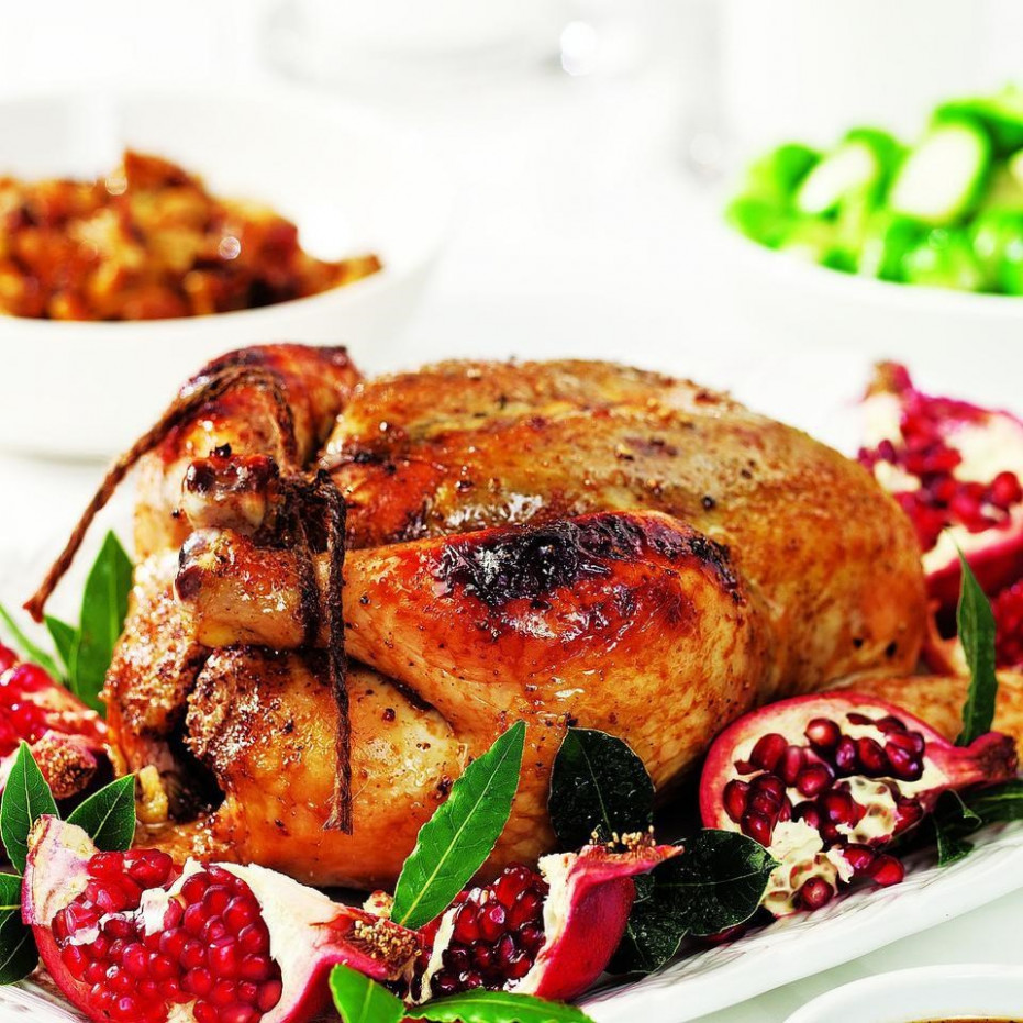 Roast Chicken with Pomegranate Glaze Recipe - EatingWell